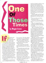 Megan's story in In To Print